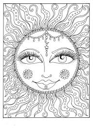 Small Picture Instant Download SUN Summer Coloring page Adult Coloring page to