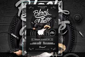 Black Flyer Backgrounds Free Black And White Club Flyer Template Plus Bonus Music