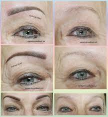 Permanentní Make Up Obočí Technikou Stínování Pudrový Efekt Anna