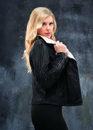 leather jacket with fur side view of black leather jacket with fur collar for women leather