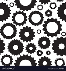 Gear Pattern Unique Gear Icon Seamless Pattern Royalty Free Vector Image