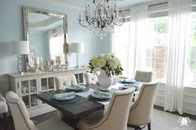dining room crystal chandelier. Floor Magnificent Dining Room Buffet Table With Crystal Chandelier And World Market Linen Lydia Chairs Restoration