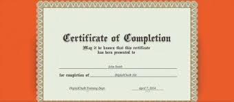 Vbs Certificate Template Free Certificate Of Completion Template Printable Vbs