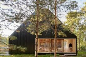 A Look at 10 Minimalist Scandinavian Cabins - Photo 7 of 10 - Nestled into a