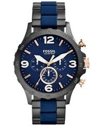 fossil men s machine gray tone stainless steel bracelet watch 42mm fossil men s chronograph nate blue silicone and black ion plated stainless steel bracelet watch men s watches jewelry watches macy s for jp