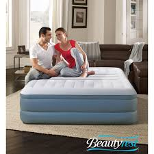 Bed With Tv Built In Insta Bed Raised Air Bed With Neverflat Ac Pump Queen Walmartcom