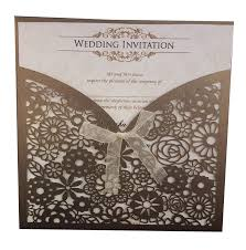 indian & pakistani wedding invitations cards uk laser cut wedding Free Email Wedding Invitations Uk lc 1001 wall of flowers chocolate laser cut pocket invitation free email wedding invitation templates