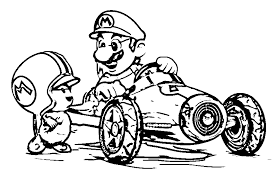 Small Picture Mario Kart 8 Customization Coloring Page Wecoloringpage