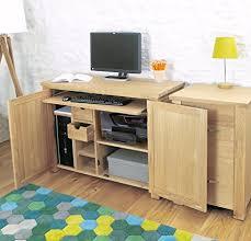 aston solid oak hidden. Baumhaus Aston Oak Hidden Home Office Solid T