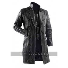 adam jenson black trench coat
