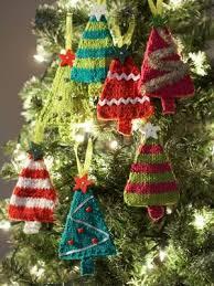 Tiny Tree Ornaments. Tree PatternsCrochet PatternsFree Christmas Knitting  ...
