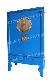 blue antique furniture. antique reproduction chinese wedding cabinet aspen wood blue color furniture 0