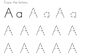 Trace Letter A to Learn Alphabets | Kiddo Shelter