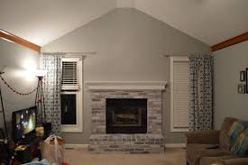 inspiring white brick fireplace for a brighter room design white brick fireplace makeover with gray