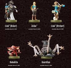Zelda Breath Of The Wild Amiibo Unlocks List Of New Zelda