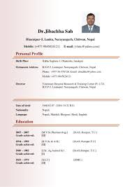 Bio Data Latest Format Dr Jibachha Sah Latest Biodata