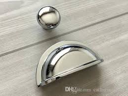 cup drawer pulls. 2018 3 Cup Drawer Pull Handle Dresser Pulls Knobs Handles Shell Bin Bowl Polished Silver Chrome Kitchen Cabinet Door From Catherinehome, .