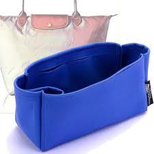 longchamp le pliage suedette singular style leather handbag organizer royal blue