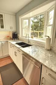 sink windows window love: standard bay window with double sink love the counter tops too