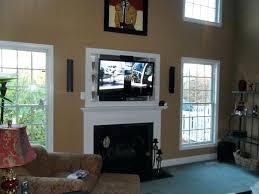 flat screen tv wall mount fireplace mantel