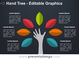 tree diagram powerpoint hand tree powerpoint diagram presentationgo com