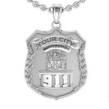 personalized correction s badge with your number department