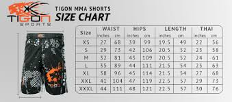 Cage Fighter Shorts Size Chart Generals Mma Shorts