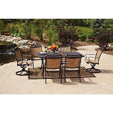 outdoor dining sets for 6.  Dining Better Homes And Gardens Paxton Place 7Piece Outdoor Dining Set Seats 6  Patio Furniture  Walmartcom Intended Sets For 6 G