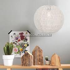 Hanglamp Draadbol Knit Touw Bol Wit ø 40 Cm