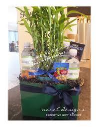 novel designs llc of las vegas good luck bamboo gift basket