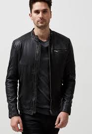 leather jacket black