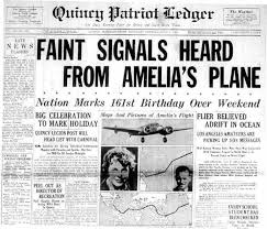 around quincy aviator amelia earhart was just miss amelia  ledger page