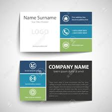 visting card format modern simple business card template vector format royalty free