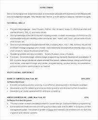 Sample Python Developer Resume Awesome Sample Programmer Resume ...