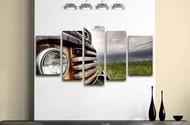 wall modern automotive wall art home pictures an extra large reion of a model car