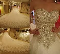 <b>New</b> Luxury Wedding Dress With Crystal Stones <b>2015</b> Ball Gown ...