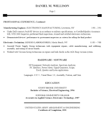Gallery Of Electronics Engineer Resume Sample For Freshers E