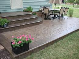 concrete slab patio. Concrete Slab Patio Makeover