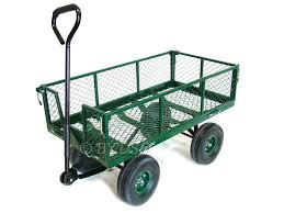 green blade large 4 wheel garden cart trolley with fold down sides st300 out of stock roadnight iveco