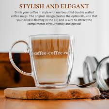 Just the right gift for a man. Double Wall Design Glass Tea Coffee Cup Heat Resistant Clear Thermo Mug 500ml Uk Ebay