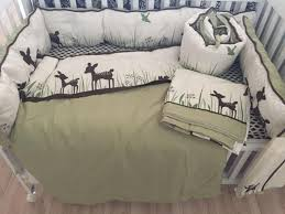 8pcs organic cotton crib bedding set boys girls cartoon deer newborn baby bedding with quilt pers fitted