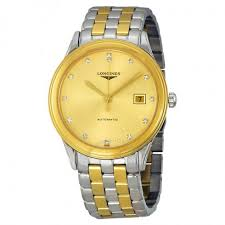 longines flagship automatic gold dial two tone men s watch l4 longines flagship automatic gold dial two tone men s watch l4 874 3 37 7