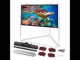 special on pyle 100 outdoor portable matt white theater tv projector screen w triangle