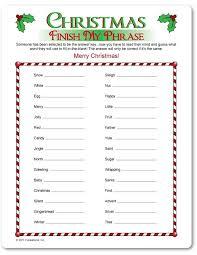 Christmas Game Sheets For Christmas – Fun for Christmas