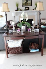 Console Decor Ideas Sofas Center Styling New To Me Console Table Xofa Tutorial Decor