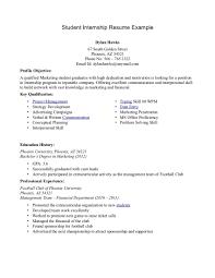 Resume Format For Applying Internship Resume For Internship 998
