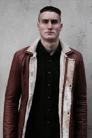 men s genuine brown leather jacket vintage rockstar styled size m