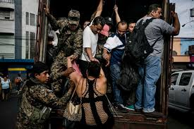 killers on a shoestring inside the gangs of the new iers transporting civilians in san salvador in 2015 after gangs ordered a bus strike credit fred ramos el faro for the new york times