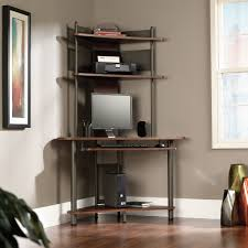 home office corner desk ideas. wood and metal corner desk with hutch for chic home furniture ideas office u