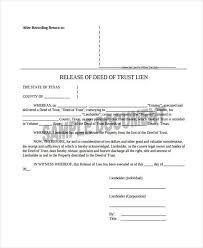 Sample Deed Of Trust Form New 48 Deed Release Form Samples Free Sample Example Format Download